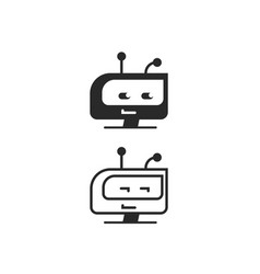 Robot head icon chatbot idea or bot logo vector