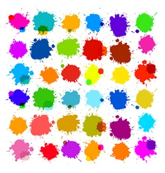 Colorful splashes - blot stains set vector