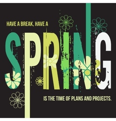 Spring typographic design poster vector