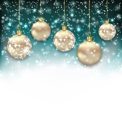 Beautiful celebration card with christmas balls vector