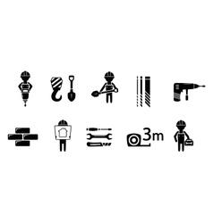 industrial concept icon set vector image