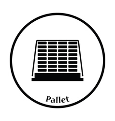 Icon of construction pallet vector