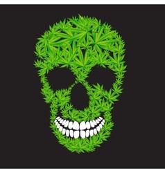 Abstract cannabis skull vector