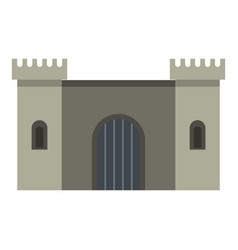 Ancient fortress icon isolated vector