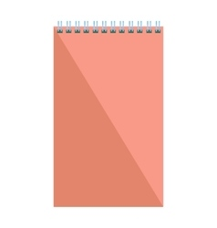 Blank flat spiral notepad notebook isolated on vector