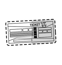 Boarding pass or ticket icon image vector
