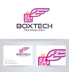 Box Wings Technology vector image