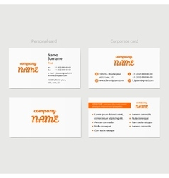 Business card design template for company vector image