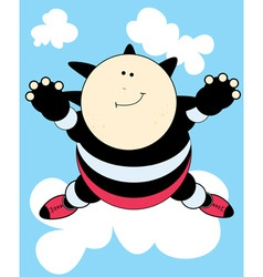 cartoon skydiver vector image