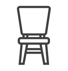 chair line icon furniture and interior vector image vector image