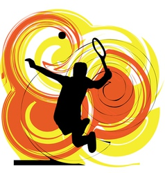 Drawing of man playing tennis vector image