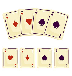 four aces playing cards spades attributes vector image vector image
