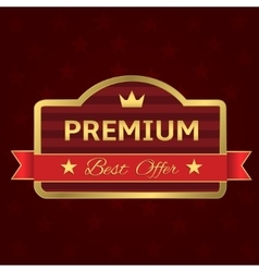 Golden Premium label vector image