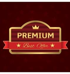 Golden premium label vector