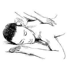 Hand sketch massage vector image