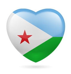 Heart icon of Djibouti vector image vector image