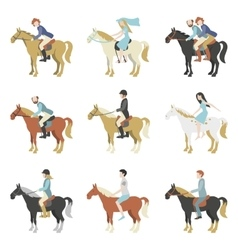 Horse riding lessons vector