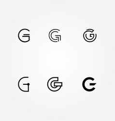 Initial letter g logo typo pack vector