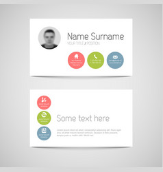 modern business card template with flat user vector image vector image