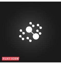 Molecule atom simple pictogram vector