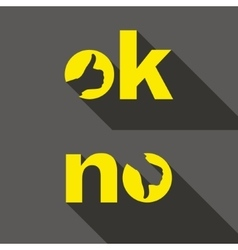 Ok and No symbol signs Thumb up and down icons vector image vector image