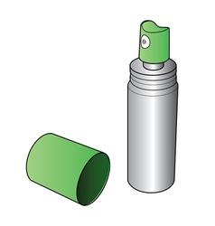 Oral spray bottle vector