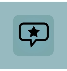 Pale blue favorite message icon vector