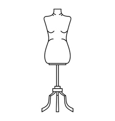 Sewing mannequin icon outline style vector image