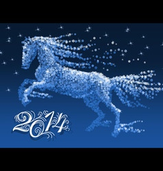 Snow horse vector image