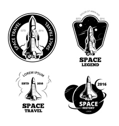 Space astronaut badges emblems and logos vector image