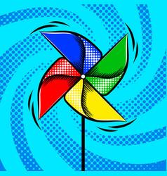 toy vane pop art style vector image