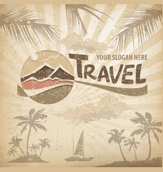 Travel logo concept vector