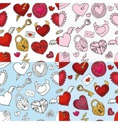 Valentine dayweddingloveheart seamless pattern vector image