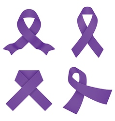 Violet awareness ribbons vector image