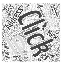 Ways to identify and tackle click fraud word cloud vector