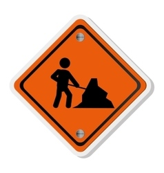 men at work traffic sign icon vector image