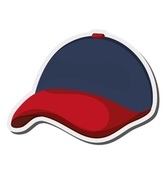 Baseball hat icon vector