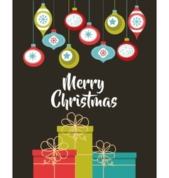 Happy merry christmas card vector
