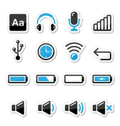 Electronic device computer software icons set vector