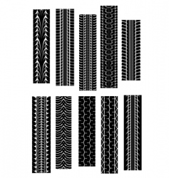 Tire tread patterns vector