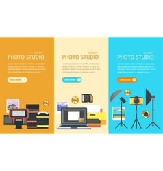 Professional photo studio banner vector