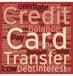 Balance transfer credit cards a way to consolidate vector
