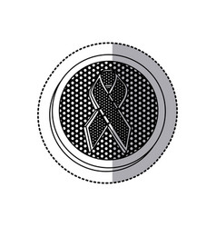 emblem black breast cancer icon vector image