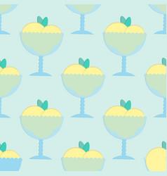 Ice cream seamless pattern in flat style vector