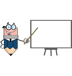 Professor pencil teaching economics vector