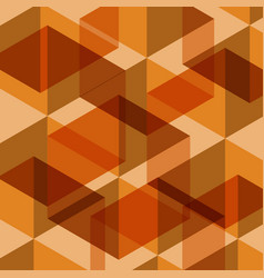 abstract orange geometric template background vector image