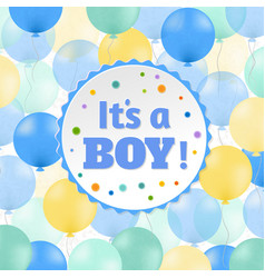 Baby boy postcard vector