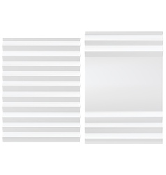Folded blank white paper vector