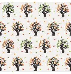 Seamless tree pattern vector