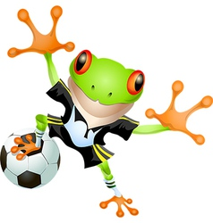 Goalkeeper frog vector